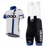 2017 Maillot Cyclisme Coop Blanc Manches Courtes et Cuissard