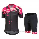 2018 Maillot Cyclisme Femme Nalini Chic Rouge Manches Courtes et Cuissard