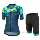 2018 Maillot Cyclisme Femme Nalini Chic Vert Manches Courtes et Cuissard