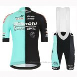 2019 Maillot Cyclisme Bianchi Countervail Noir Vert Manches Courtes et Cuissard
