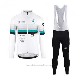 2020 Maillot Cyclisme Mercedes F1 Manches Longues et Cuissard
