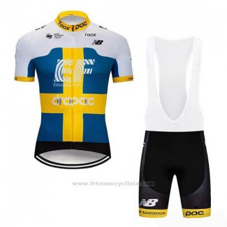 2019 Maillot Cyclisme EF Education First Svezia Manches Courtes et Cuissard