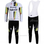 2011 Maillot Cyclisme HTC Highroad Blanc Manches Longues et Cuissard