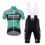 2017 Maillot Cyclisme Bianchi Countervail Vert Manches Courtes et Cuissard