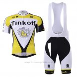 2017 Maillot Cyclisme Tinkoff Jaune Manches Courtes et Cuissard