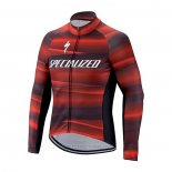 2021 Maillot Cyclisme Specialized Rouge Manches Longues et Cuissard