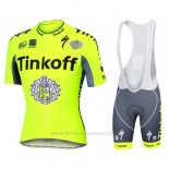 2016 Maillot Cyclisme Tinkoff Jaune Manches Courtes et Cuissard