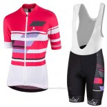 2017 Maillot Cyclisme Femme Nalini Dolomiti Rouge Manches Courtes et Cuissard