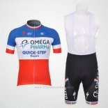2012 Maillot Cyclisme Omega Pharma Quick Step Champion France Manches Courtes et Cuissard