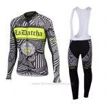 2016 Maillot Cyclisme Tinkoff Gris Manches Longues et Cuissard