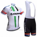 2017 Maillot Cyclisme Giant Blanc Manches Courtes et Cuissard