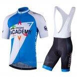 2018 Maillot Cyclisme Israel Cycling Academy Blanc et Bleu Manches Courtes et Cuissard