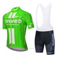 2020 Maillot Cyclisme Sunweb Vert Blanc Manches Courtes et Cuissard