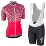 2017 Maillot Cyclisme Femme Nalini Wave Rouge Manches Courtes et Cuissard
