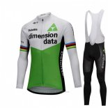 2018 Maillot Cyclisme UCI Monde Champion Dimension Date Vert Manches Longues et Cuissard