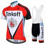 2017 Maillot Cyclisme Tinkoff Rouge Manches Courtes et Cuissard