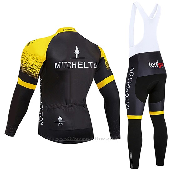 2019 Maillot Cyclisme Mitchelton GreenEDGE Manches Longues et Cuissard