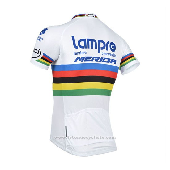 2013 Maillot Cyclisme UCI Monde Champion Lider Lampre Merida Manches Courtes et Cuissard